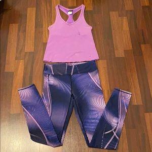 Bundle - Nike top and Fabletics leggings